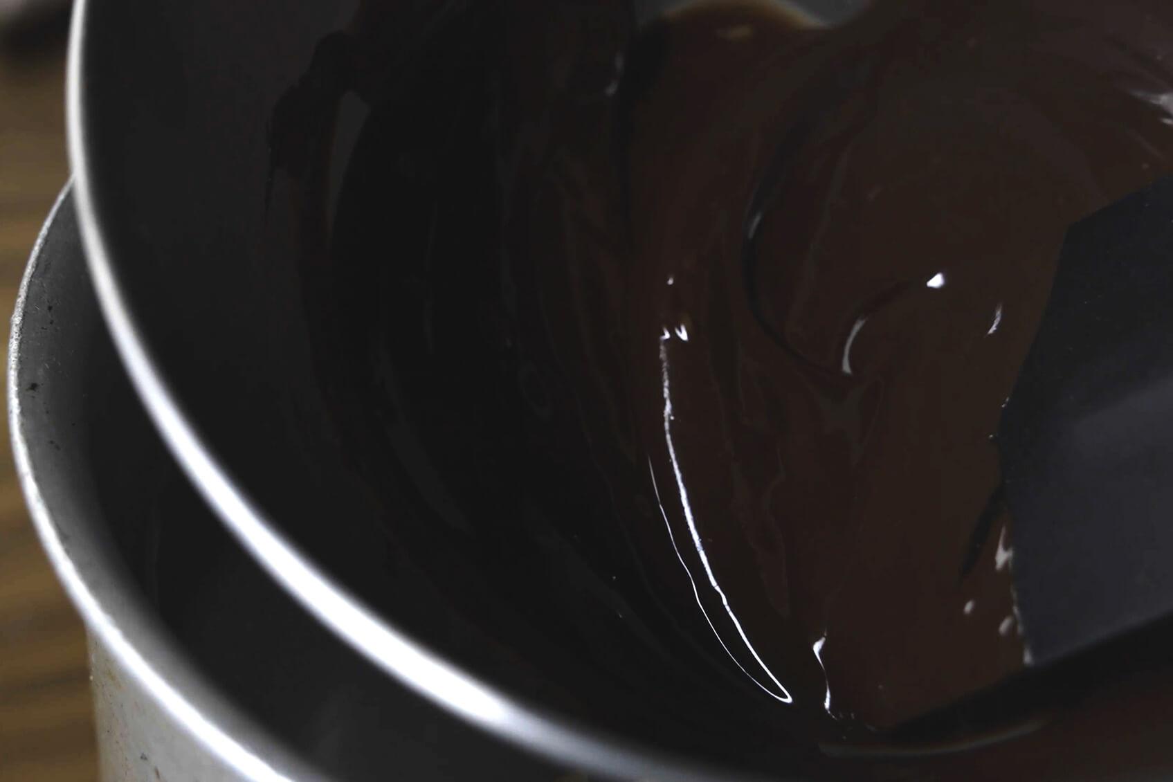 チョコレートが溶けるまで